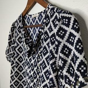 41 Hawthorn Moni Studded Short Sleeve Blouse
